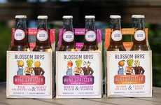 Artisan Botanical Spritzers - The Blossom Brothers Artisan Wine Spritzers are Refreshingly Crisp