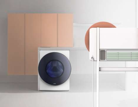 Sculptural Home Appliances - The FIN Collection Features Chic and Discreet Laundry Machines