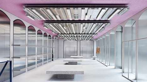 Fembot-Inspired Retail Stores - The Acne Studios Flagship Store in Milan is Futuristic and Feminine