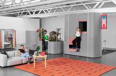 Function-Based Cubicles - Students at ECAL Have Redesigned Office Cubicles for Alternative Functions