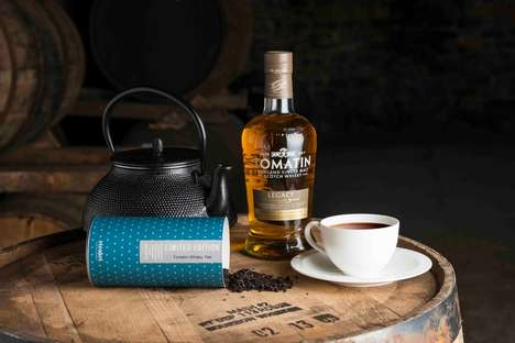 Barrel-Aged Whisky Teas - Tomatin's Whisky Barrel Aged Black Tea is Aged in Bourbon Barrels