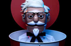 Animatronic Order-Taking Robots - KFC Has Created a Colonel Sanders Robot to Take Drive-Thu Orders
