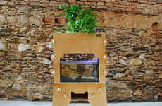At-Home Aquaponic Vegetable Gardens - This Aquatic Ecosystem Combines Gardening and Fish Keeping
