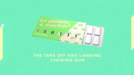 Inflight Chewing Gums - Air France is Introducing Gum on a Plane for Take Off and Landing