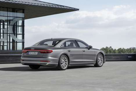 Semi-Autonomous Sedans - The Audi A8 is Built With a Luxurious Travel Experience in Mind
