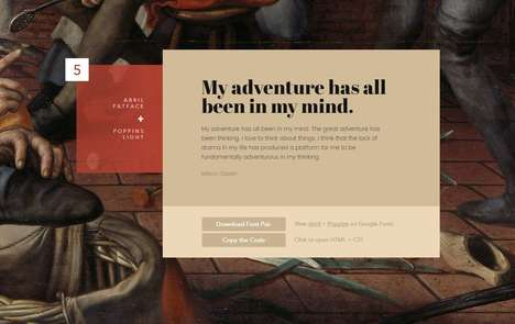 Artistic Font Guides - The Ultimate Collection of Google Font Pairings Matches Type with Art