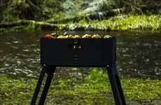 Lightweight Backpack Grills - The 'GIZZO' Portable BBQ Grills Sets Up in 40 Seconds Flat