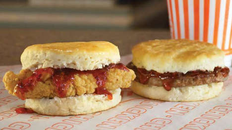 Jam-Topped Biscuit Sandwiches