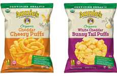 Free-From Cheese Puff Snacks - The Annie's Organic Cheese Puffs are a Wholesome Snack Choice