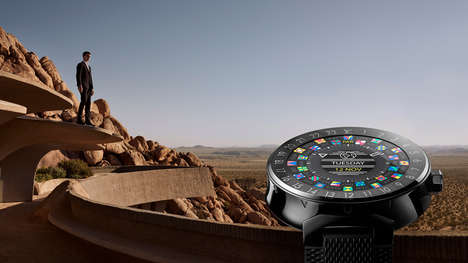 Fashionable Designer Smartwatches - The Tambour Horizon Connected Watch is Designed by Louis Vuitton
