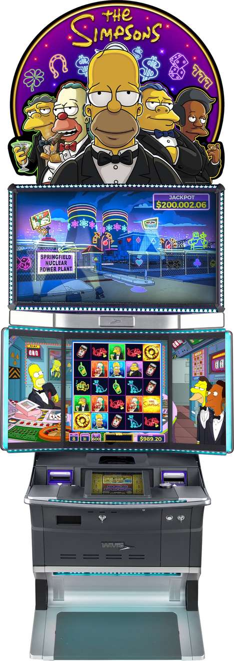 Cartoon-Branded Slot Machines - Scientific Games Corporation's Simpsons Game is Intuitively Designed