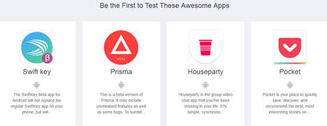 Simplistic App-Testing Sites - Beta Testers.io Lets Techies Try New Android and iOs Apps for Free