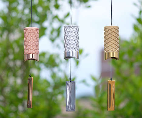 Elegant Relaxation Wind Chimes - This Metal Wind Chime by Bryan Wong Maximizes Resonance