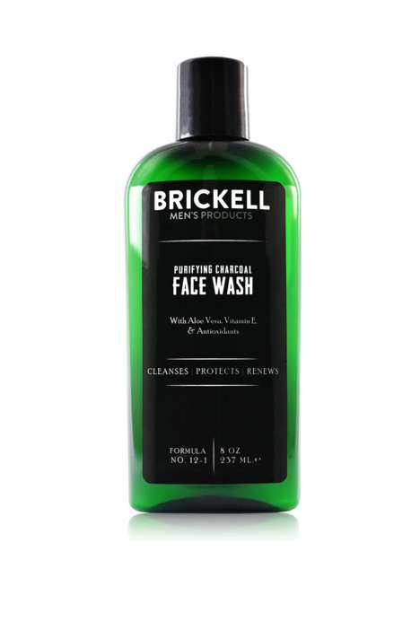 Purifying Charcoal Cleansers - Brickell's Purifying Charcoal Face Wash Boasts Deep Cleansing Power