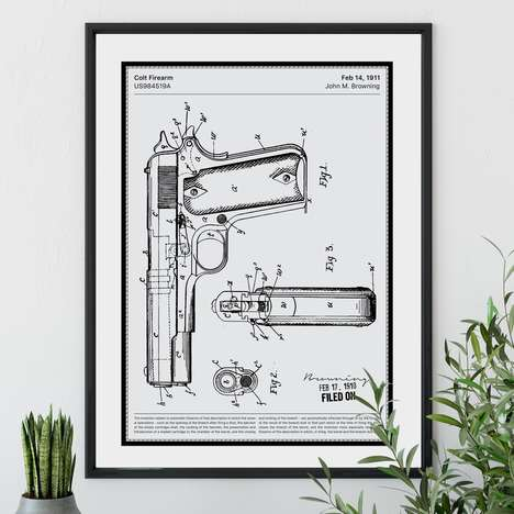 Influential Patent Prints - 'Fancy Patents' Offers Fine, Embossed Prints of Famous Patent Sheets
