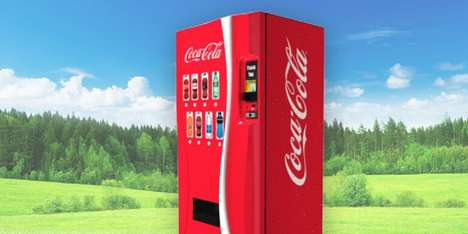 Intelligent Vending Machines - Coca-Cola's AI Vending Machine Brings Joy to Purchasing a Drink