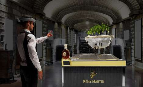 Mixed Reality Cognac Displays - Rémy Martin's Alcohol Display Comes to Life with Microsoft HoloLens