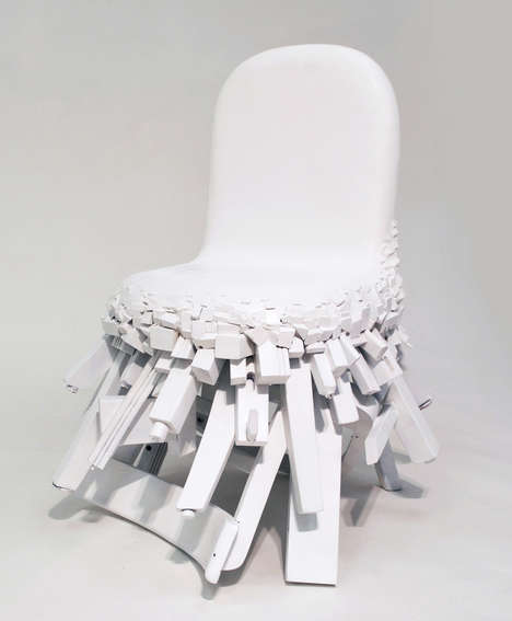 Fragmented Chair Designs - The 'Fused Chair' is Made of Parts from Five Broken and Unwanted Chairs