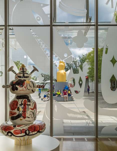 Childlike Museum Totems - Jaime Hayon's Merry Go Zoo is on Display Outside an Atlanta Art Museum