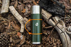 Metallic Insulation Canteens - The MIZU V10 Water Bottle is Specially Designed with a Copper Finish