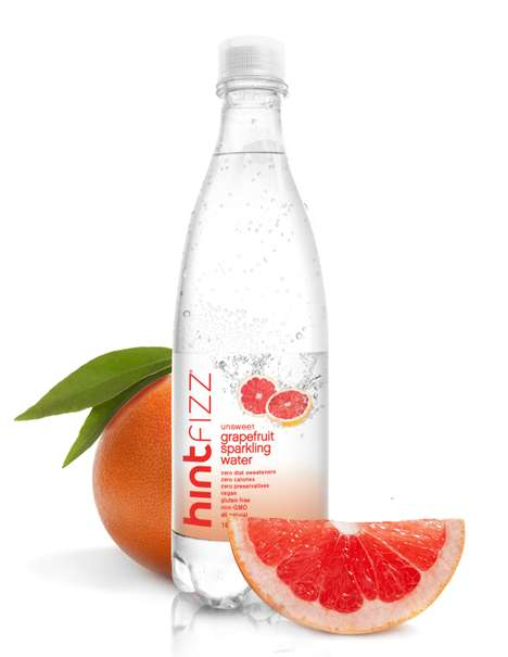 Grapefruit Sparkling Waters - Hint Fizz Functions as a More Natural Alternative to Soda