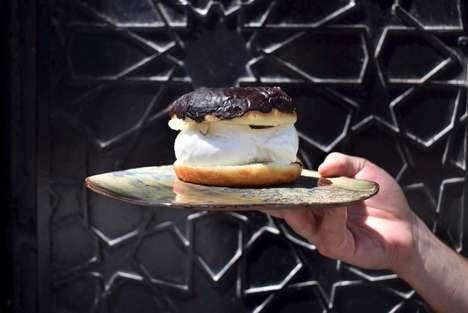 Special Gelato Donut Sandwiches
