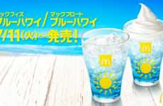 Island-Flavored Fizzy Drinks - McDonald's Japan's 'Blue Hawaii McFizz' is Just in Time for Summer