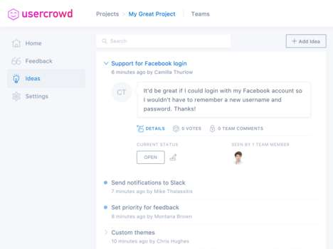 End User Feedback Solutions - 'Usercrowd' Lets You Collect Feedback and Ideas from End Users