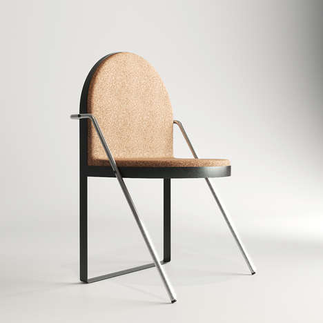 Elegant Cork Armchairs - This Chair by KDVA Studio Was Inspired by Ancient East Design