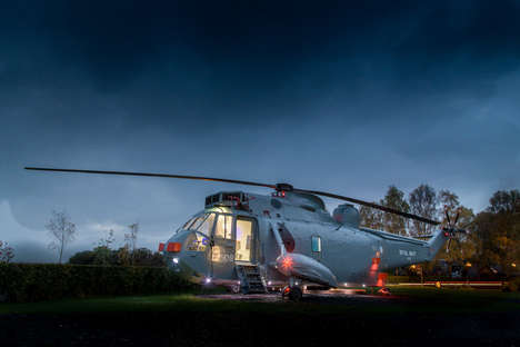 Helicopter Hotel Rooms - This Getaway Destination is Inside of a Decommissioned Aircraft