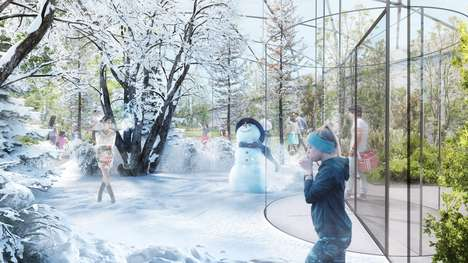 Multi-Seasonal Covered Gardens - 'The Garden of the Four Seasons' Uses Climate-Control Technology