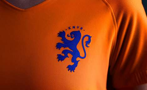 Rampant Lioness Logos - The National Dutch Women's Soccer Team Recently Received a Logo Redesign
