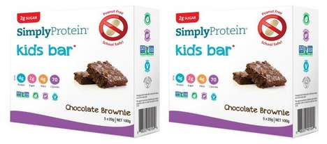 Kid-Friendly Protein Brownies - The SimplyProtein Kids Chocolate Brownie Bars are Low in Sugar