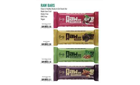 Raw Ingredient Snack Bars - The Pereg Raw Bars are a Healthy Alternative to Traditional Candy Bars