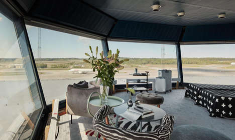 Elevated Control Tower Suites - Arlanda Airport Transformed an Old Flight Deck into a Luxury Suite