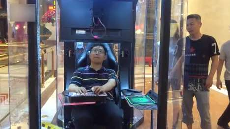 Shopping Mall Gaming Booths - This Gaming Booth is for Husbands to Use While Their Wives Shop