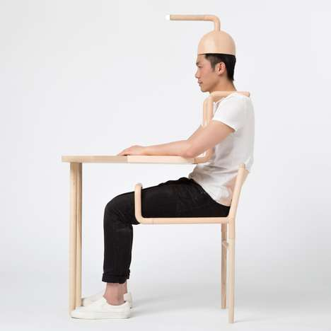 Semi-Functional Furniture - Symbiotic Objects by Xiang Guan Can Only Function With Human Interaction