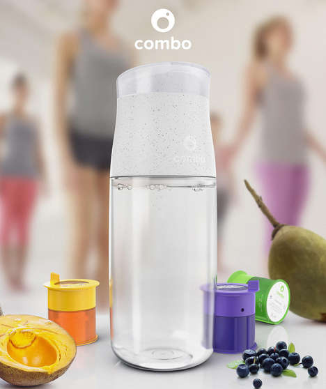 Supplement-Infusing Water Bottles - The 'Combo' Reusable Water Bottles Infuse Nutrition into H2O