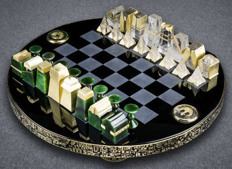 Opulent Sci-Fi Chess Sets