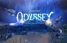 Underwater Train Voyages - 'Eurostar Odyssey' Takes Passengers on a Virtual Journey Under the Sea