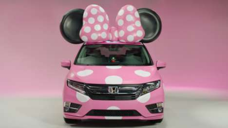 Disney-Inspired Vehicles - The 'Minnie Van' a Four-Wheeled Tribute to Minnie Mouse