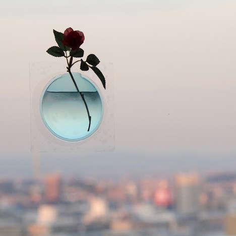 Floating Floral Window Vases