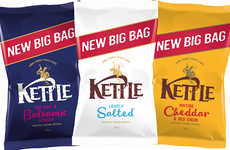 Sharing-Friendly Chip Packaging - The New Kettle Chips Big Bags Come as a Response to Brexit