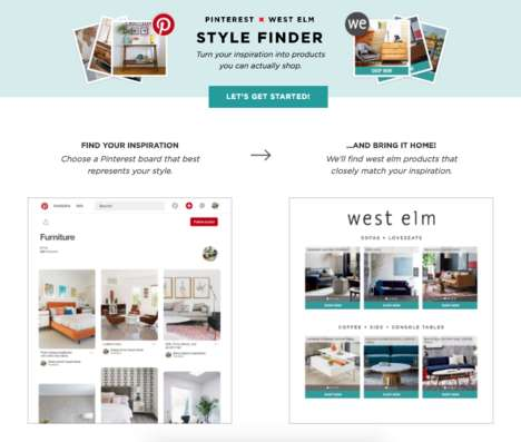 Pinboard Furniture Matchmakers - The West Elm Pinterest Style Finder Uses AI to Make Decor Matches