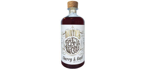 Herbaceous Cherry Spirits - Poetic License Launched a Pink-Tinted Cherry and Basil Gin