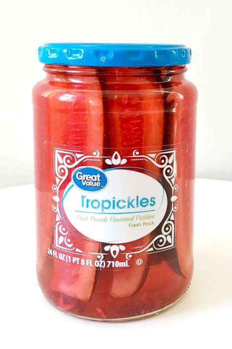 Fruit Punch-Flavored Pickles - 'Tropickles' from Walmart's Great Value Brand are Sweet and Tangy