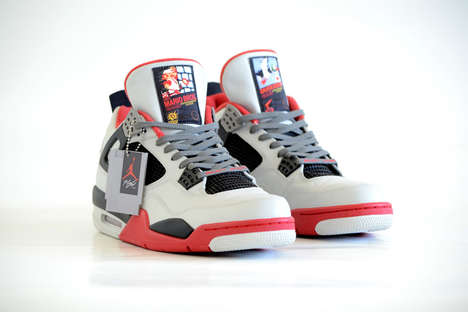 Game Console-Inspired Sneakers - These Nintendo-Themed Air Jordans are Any Gamer's Dream