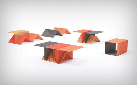 Single-Component Furniture Designs - The 'Grate Module' Makes Furniture Using Minimal Materials