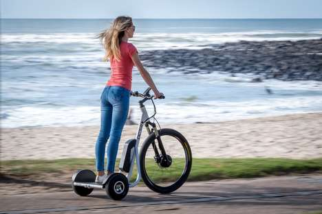 Pedal-Free Electric Trikes - The 'DC-Tri' Stand-Up Electric Trike Bikes Turn on a Dime
