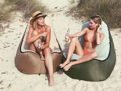 Interchangeable Cover Inflatable Chairs - The TRONO Chair Inflates in Seconds for a Supportive Seat
